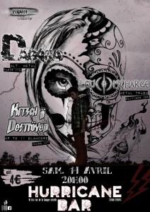 Concert le 14 avril au Hurricane's Pub avec Dagara & Kitsch 'N Destroyed